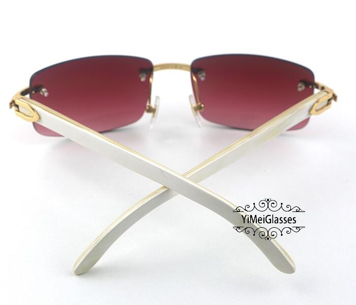 Cartier Buffalo Horn Classic Rimless Sunglasses CT3524012插图(12)