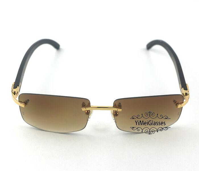 Cartier Buffalo Horn Classic Rimless Sunglasses CT3524012插图13