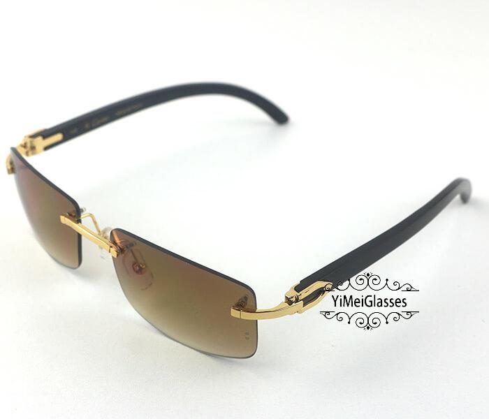 Cartier Buffalo Horn Classic Rimless Sunglasses CT3524012插图14