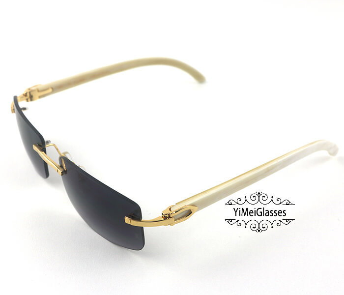 Cartier Buffalo Horn Classic Rimless Sunglasses CT3524012插图1