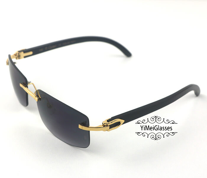 Cartier Buffalo Horn Classic Rimless Sunglasses CT3524012插图(20)