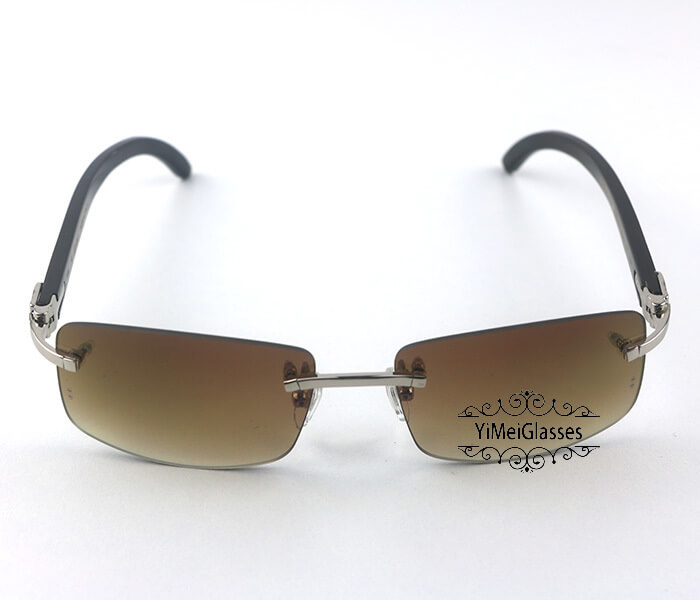 Cartier Buffalo Horn Classic Rimless Sunglasses CT3524012插图(22)