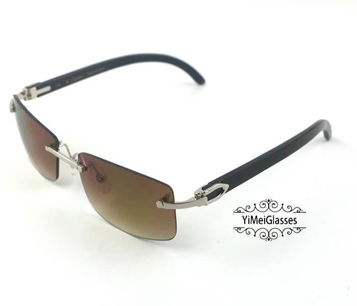Cartier Buffalo Horn Classic Rimless Sunglasses CT3524012插图23