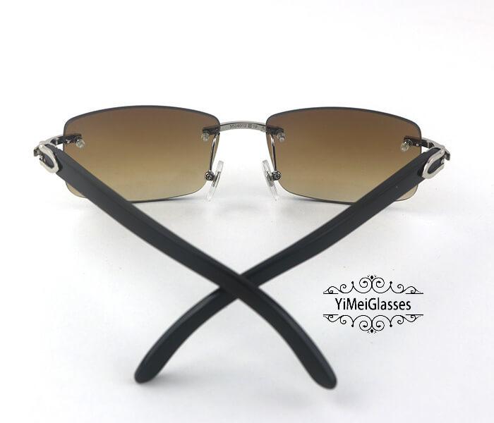 Cartier Buffalo Horn Classic Rimless Sunglasses CT3524012插图(24)