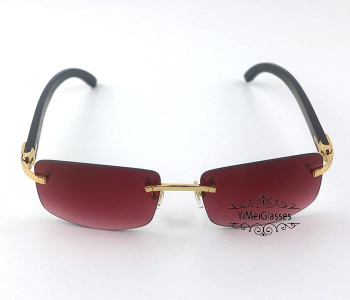 Cartier Buffalo Horn Classic Rimless Sunglasses CT3524012插图25