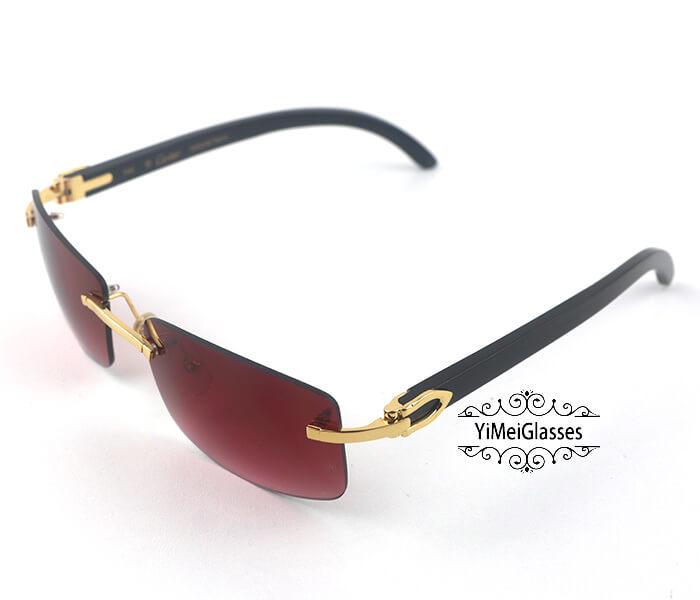 Cartier Buffalo Horn Classic Rimless Sunglasses CT3524012插图(26)