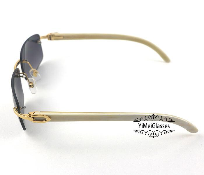 Cartier Buffalo Horn Classic Rimless Sunglasses CT3524012插图(2)