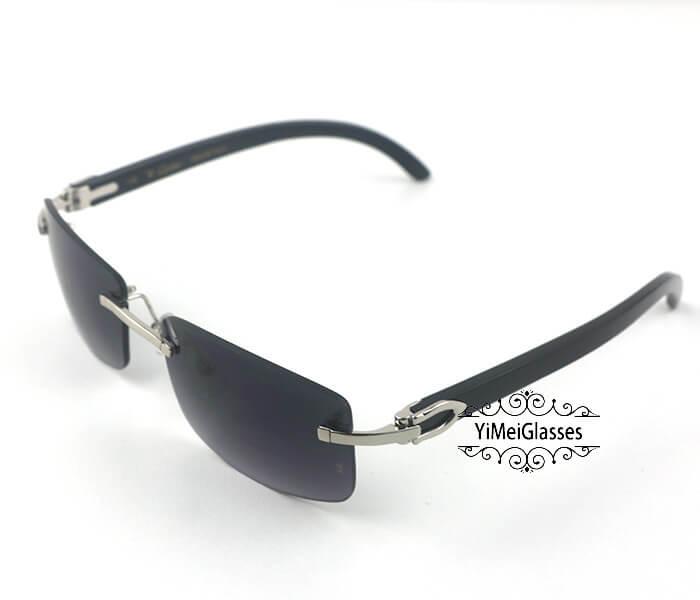 Cartier Buffalo Horn Classic Rimless Sunglasses CT3524012插图(29)