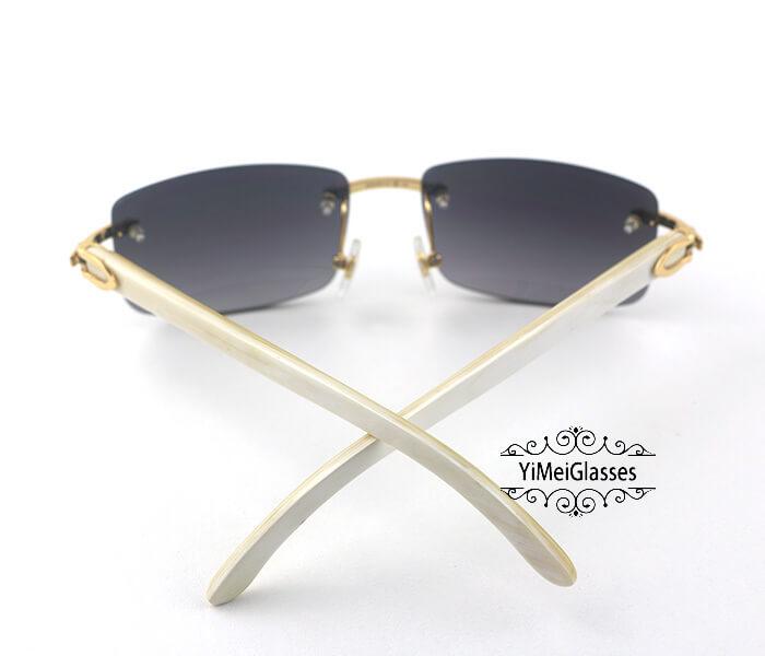 Cartier Buffalo Horn Classic Rimless Sunglasses CT3524012插图(6)