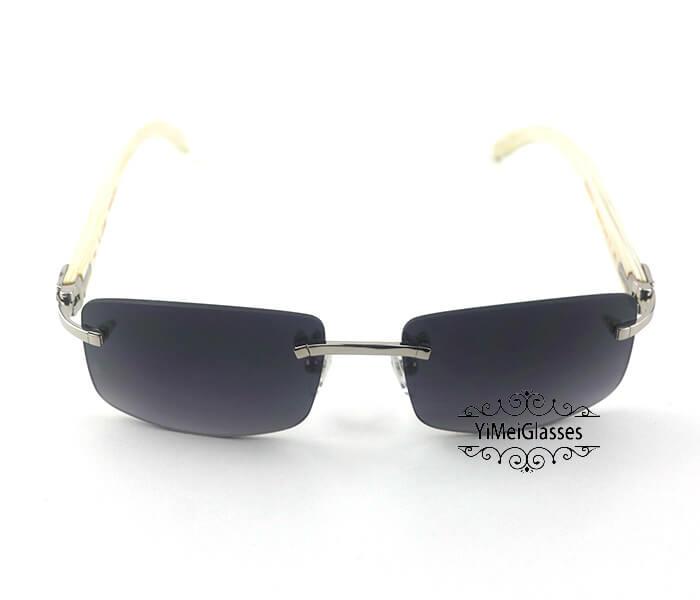 Cartier Buffalo Horn Classic Rimless Sunglasses CT3524012插图(7)