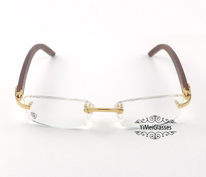 Cartier Wooden Classic Rimless Optical Glasses CT3524012插图