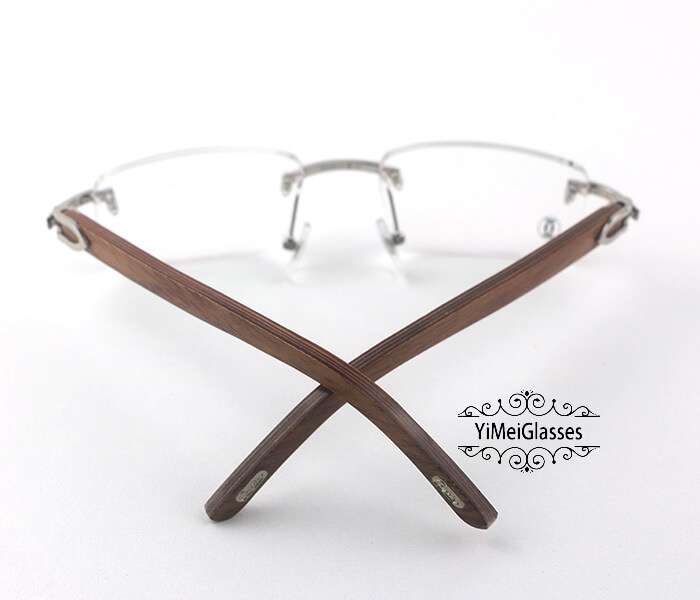 Cartier Wooden Classic Rimless Optical Glasses CT3524012插图9