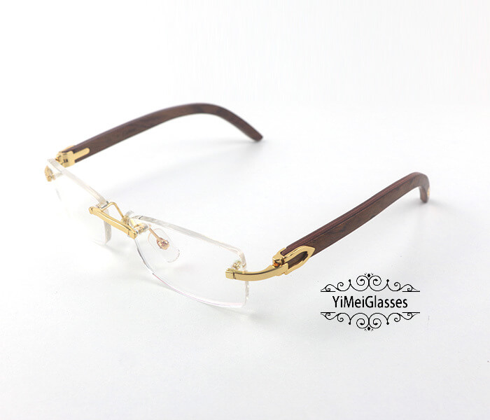 Cartier Wooden Classic Rimless Optical Glasses CT3524012插图1