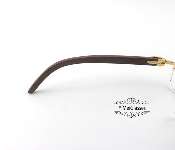 Cartier Wooden Classic Rimless Optical Glasses CT3524012插图3