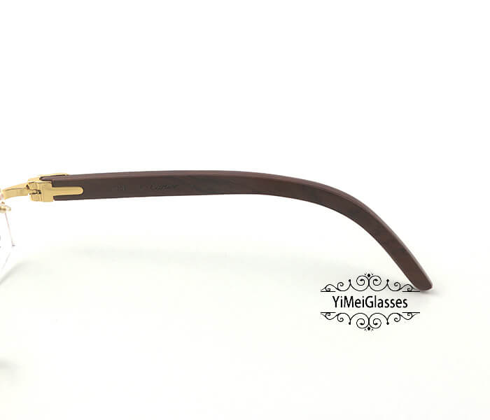 Cartier Wooden Classic Rimless Optical Glasses CT3524012插图4