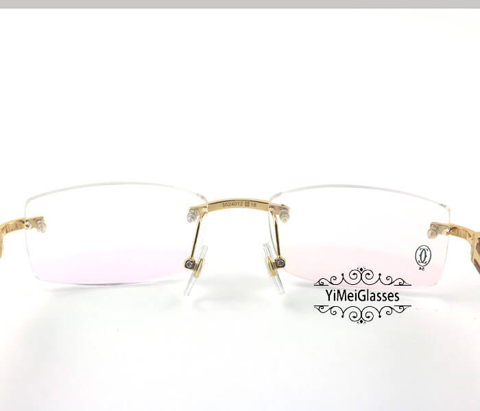 Cartier Wooden Classic Rimless Optical Glasses CT3524012插图5