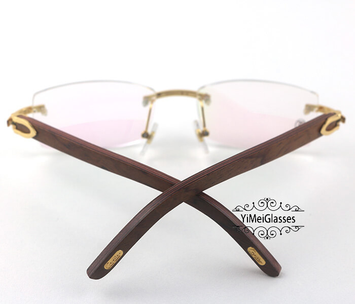 Cartier Wooden Classic Rimless Optical Glasses CT3524012插图6