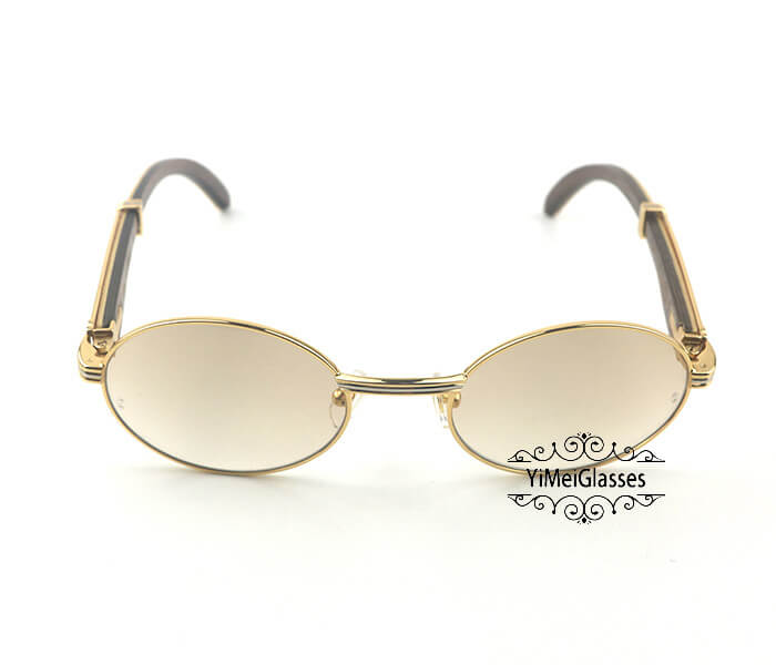 Cartier Double Color Wood Full Frame Classic Sunglasses CT7550178-53插图
