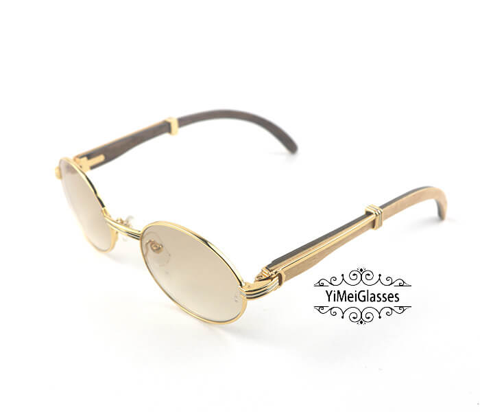 Cartier Double Color Wood Full Frame Classic Sunglasses CT7550178-53插图(1)