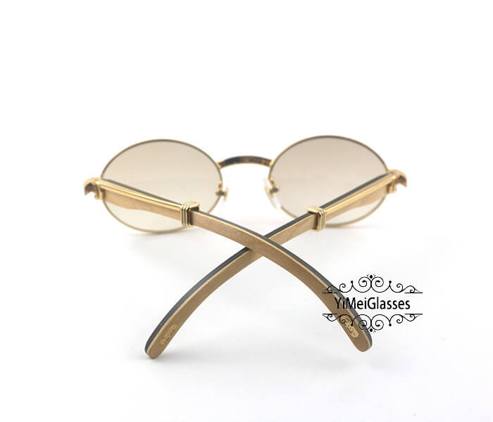 Cartier Double Color Wood Full Frame Classic Sunglasses CT7550178-53插图(3)