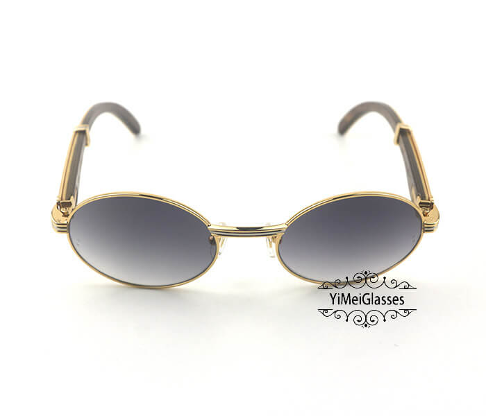 Cartier Double Color Wood Full Frame Classic Sunglasses CT7550178-53插图(4)