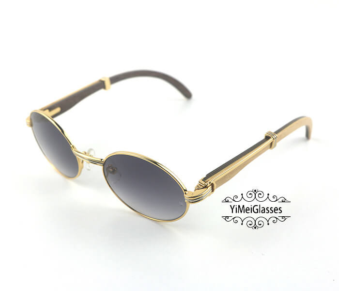 Cartier Double Color Wood Full Frame Classic Sunglasses CT7550178-53插图(5)
