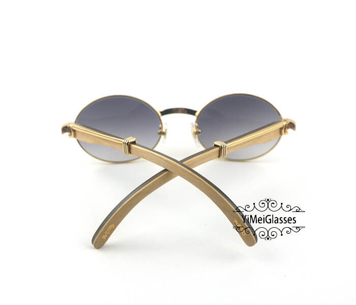 Cartier Double Color Wood Full Frame Classic Sunglasses CT7550178-53插图(6)