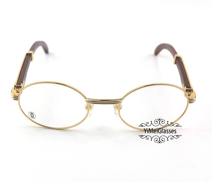 Cartier Wooden Full Frame Wooden Optical Glasses CT7550178-53插图