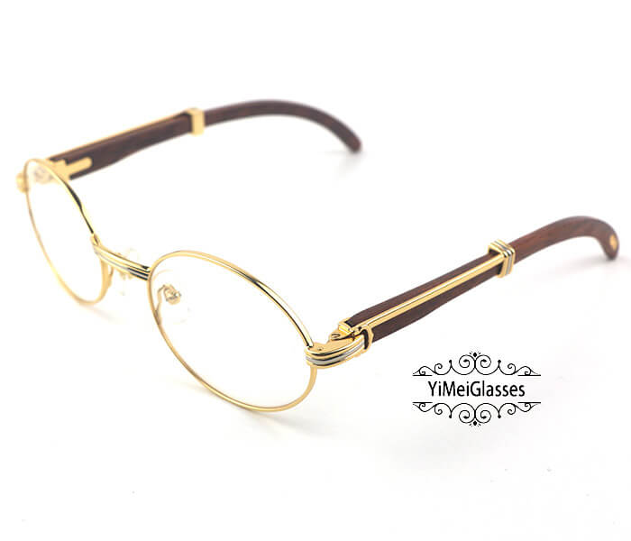 Cartier Wooden Full Frame Wooden Optical Glasses CT7550178-53插图(1)
