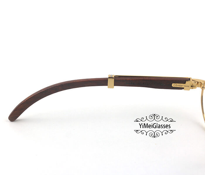 Cartier Wooden Full Frame Wooden Optical Glasses CT7550178-53插图(3)