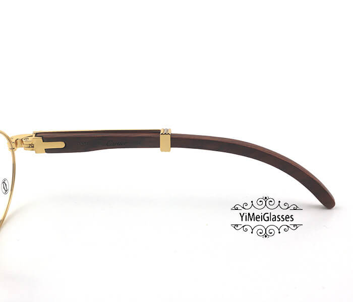 Cartier Wooden Full Frame Wooden Optical Glasses CT7550178-53插图(4)