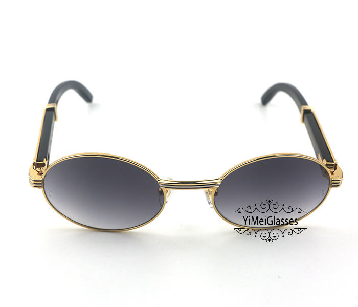 Cartier Buffalo Horn Full Frame Classic Sunglasses CT7550178-53插图
