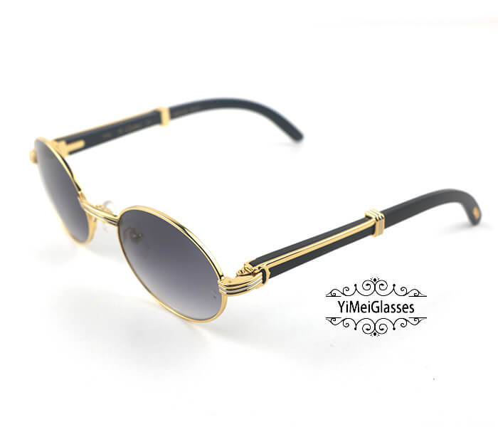 Cartier Buffalo Horn Full Frame Classic Sunglasses CT7550178-53插图(1)
