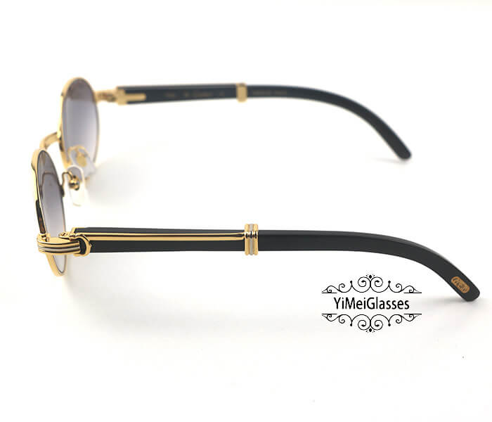 Cartier Buffalo Horn Full Frame Classic Sunglasses CT7550178-53插图(2)