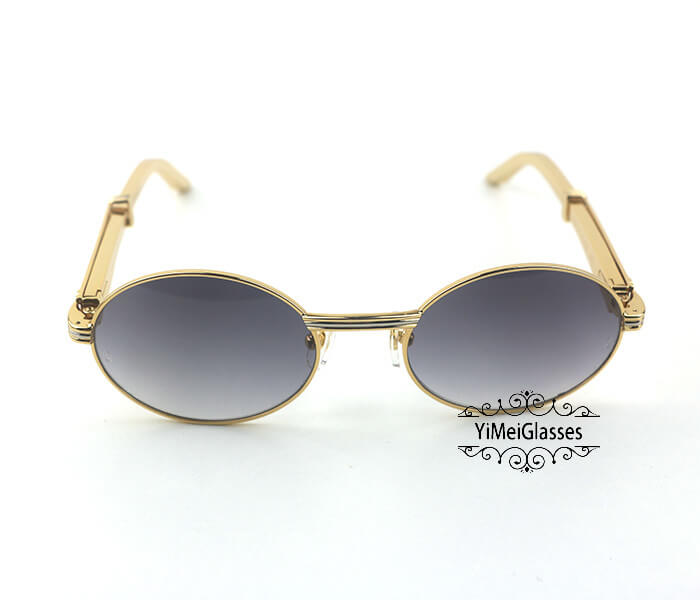 Cartier Stainless Steel Full Frame Classic Sunglasses CT7550178-53插图