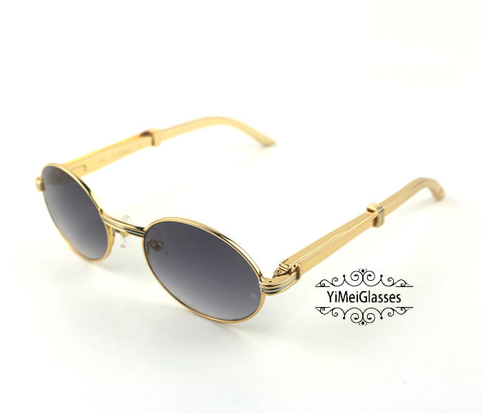Cartier Stainless Steel Full Frame Classic Sunglasses CT7550178-53插图(1)