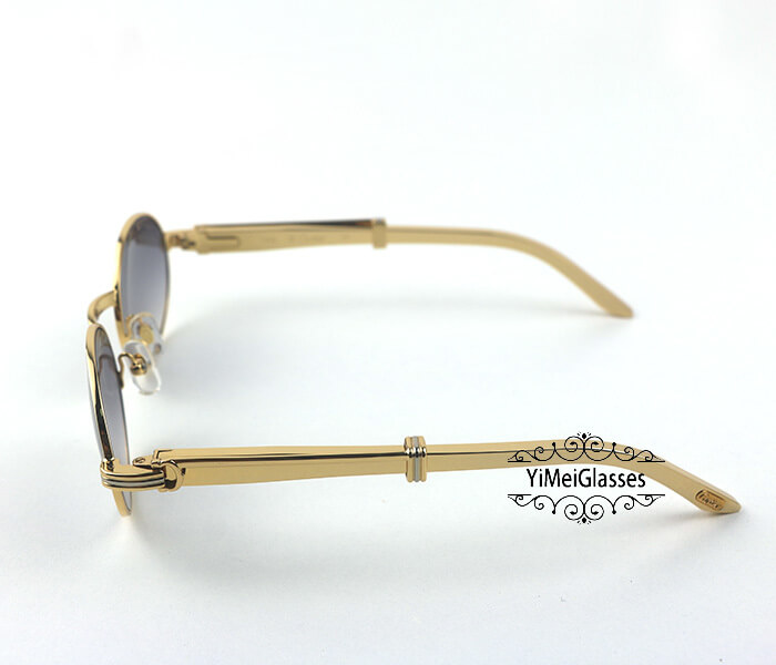 Cartier Stainless Steel Full Frame Classic Sunglasses CT7550178-53插图(2)