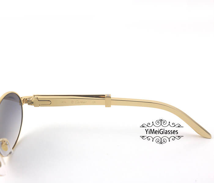 Cartier Stainless Steel Full Frame Classic Sunglasses CT7550178-53插图(4)