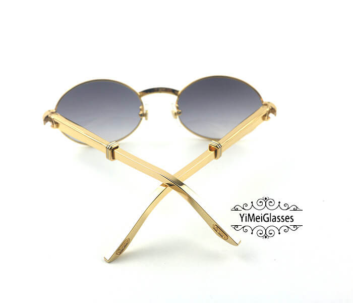 Cartier Stainless Steel Full Frame Classic Sunglasses CT7550178-53插图(5)