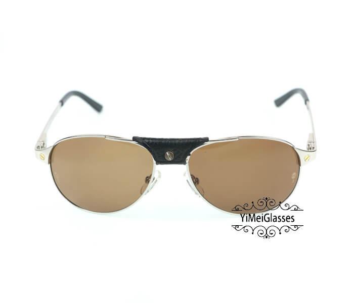 Cartier Classic Leather Buckle Aviators Sunglasses CT123456插图(20)