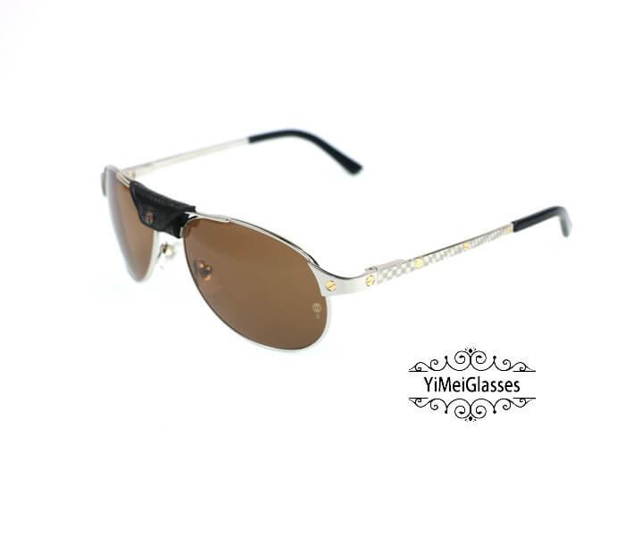 Cartier Classic Leather Buckle Aviators Sunglasses CT123456插图(21)