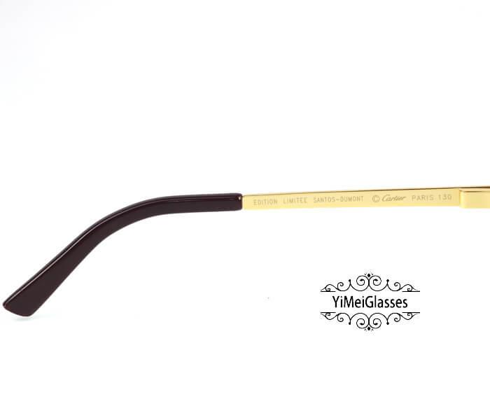 Cartier Classic Leather Buckle Aviators Sunglasses CT123456插图(11)