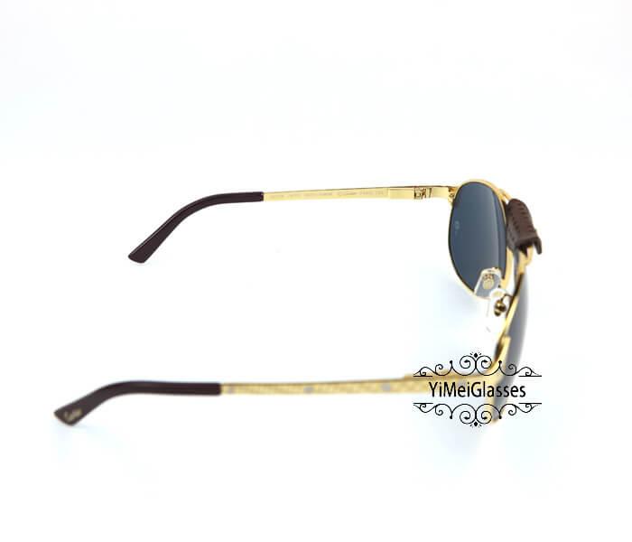 Cartier Classic Leather Buckle Aviators Sunglasses CT123456插图(12)