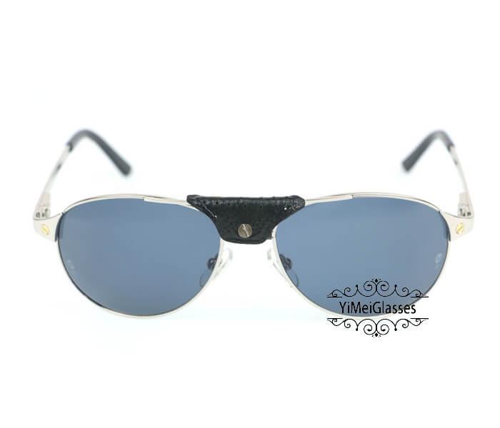 Cartier Classic Leather Buckle Aviators Sunglasses CT123456插图(13)