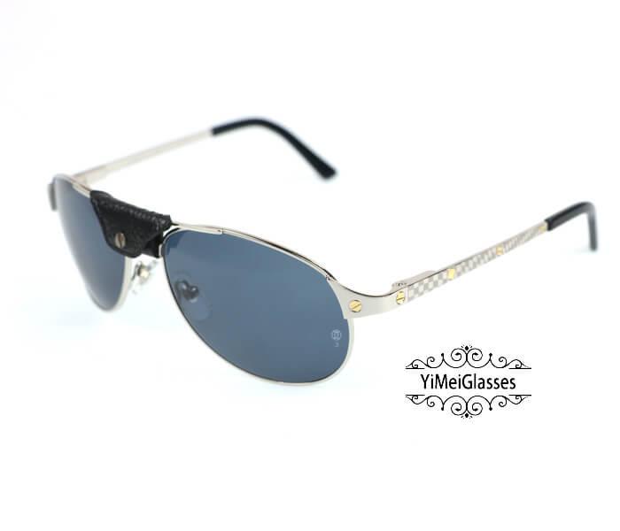 Cartier Classic Leather Buckle Aviators Sunglasses CT123456插图(14)