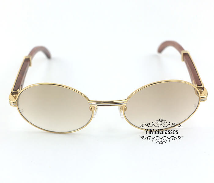 Cartier RoseWood Full Frame Classic Sunglasses CT7550178-55插图