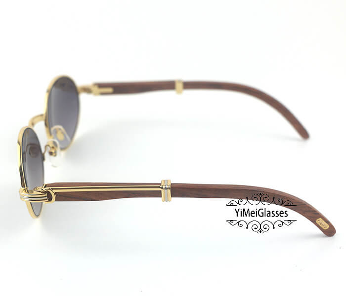 Cartier RoseWood Full Frame Classic Sunglasses CT7550178-55插图(9)