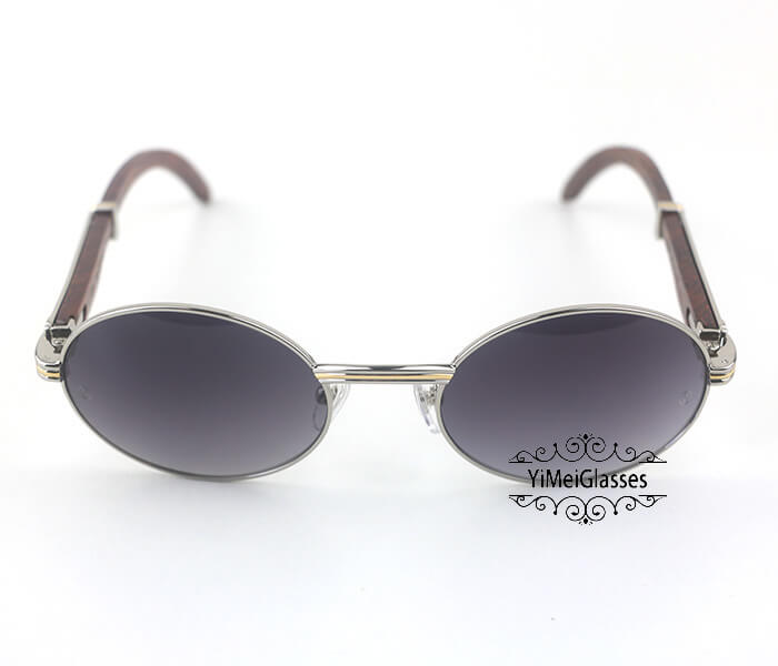 Cartier RoseWood Full Frame Classic Sunglasses CT7550178-55插图(10)