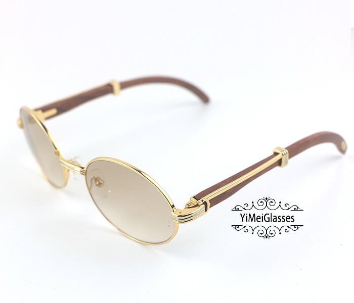 Cartier RoseWood Full Frame Classic Sunglasses CT7550178-55插图(1)