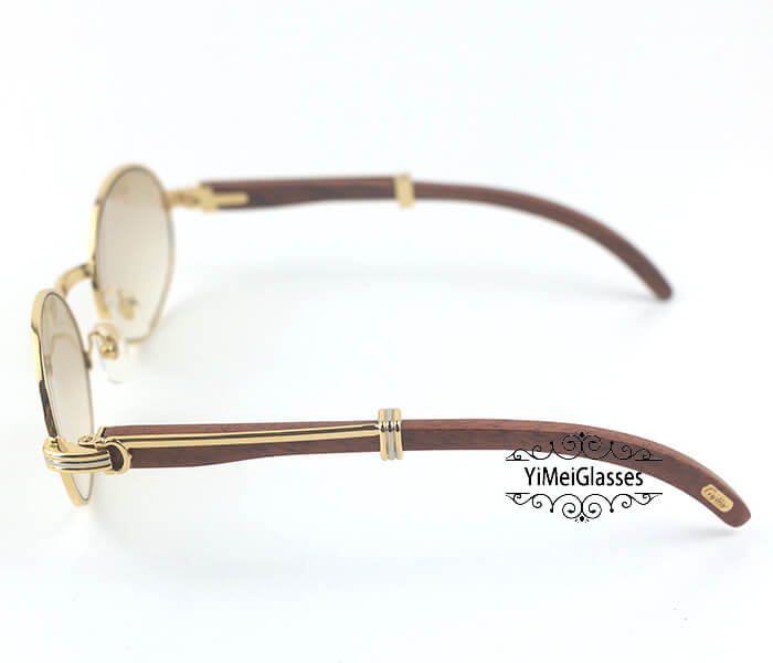 Cartier RoseWood Full Frame Classic Sunglasses CT7550178-55插图(2)